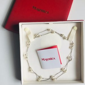 Majorica Pearls & Sterling Silver Necklace